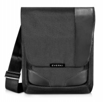 Everki EKS622XL Premium RFID Mini Messenger Fits iPad Pro 12 Inch / Macbook 12 - Black