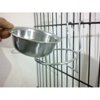 Tempat makan anjing dan kucing Single ring gantung with bowl 12cm