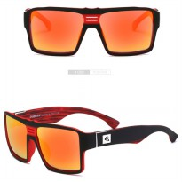 DUBERY Kacamata Pria Retro Polarized Sunglasses - Y729 - Red
