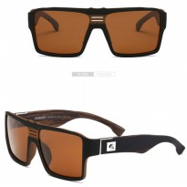 DUBERY Kacamata Pria Retro Polarized Sunglasses - Y729 - Brown