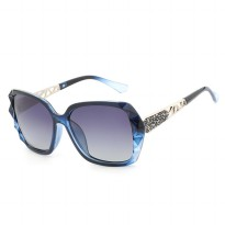 Kacamata Wanita Korean Sunglasses Polarized Anti UV - Blue/Gray
