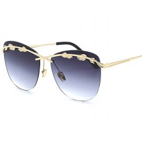 Kacamata Wanita Olive Branch Sunglasses Anti UV - Gray