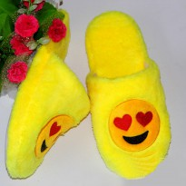 Sandal Rumah Selop Emoji Cute Home Slipper Size 36-37 - Yellow