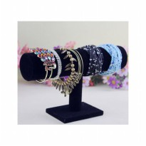 HO1915 - Display Perhiasan Gelang 1 Baris (Hitam)