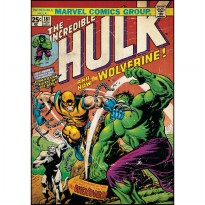 Hulk With Wolverine Peel And Stick Comic Book Cover