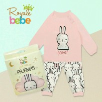 Royal Bebe Long Sleece Pajamas (24m+) Bunny Pink