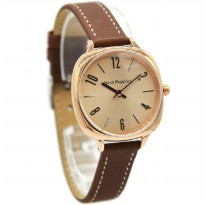 Hush Puppies 5013L-2505 Jam Tangan Wanita Leather Strap Coklat Ring Rosegold