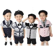 ~Cutevina~ Boys Fashion Suit And Tie / Setelan Anak + Dasi