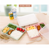 LUNCH BOX RA510B WHEAT STRAW SNACK BOX