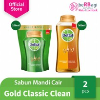[Buy1get1] Dettol Bodywash Gold Classic Clean 300ml & Daily Clean 250ml - ED: Oct 2019