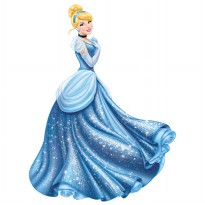 Disney Princess Cinderella Glamour Giant Wall Decal With Glitter