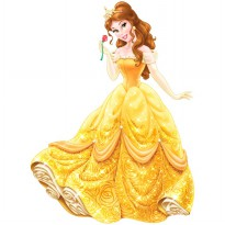 Disney Princess Belle Giant Wall Decal With Glitter