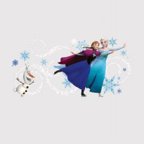 Frozen Custom Headboard Featuring Elsa Anna & Olaf Giant Wall Decals With  Personalization