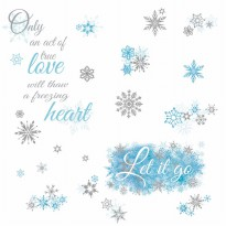 Frozen Let It Go Wall Decals With Glitter