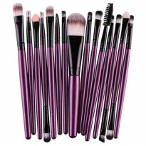 Toiletry Kit Brush Make Up 15 Set - Purple