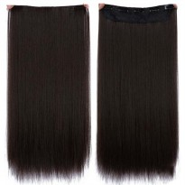 Hair Extension Wig Rambut Palsu Model Natural Straight 50cm - Black/Brown