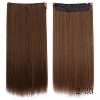 Hair Extension Wig Rambut Palsu Model Natural Straight 60cm - Brown