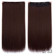 Hair Extension Wig Rambut Palsu Model Natural Straight 60cm - Dark Brown