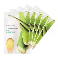 Innisfree Real Squeeze Masker Wajah Korean Fruit Rasa Aloe Vera 1PCS