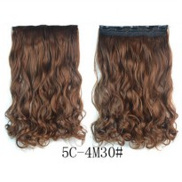 Hair Extension Clip Wig Rambut Palsu - 5C-4M30 - Brown