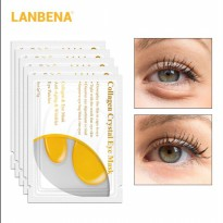 LANBENA Masker Mata Collagen 24K Gold Eye Mask 1 PCS - Yellow