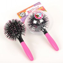 Sisir Rambut 3D Magic Comb 360 Derajat - Black/Pink