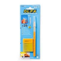 OLFA AK-1 Art Knife With 25 Blades