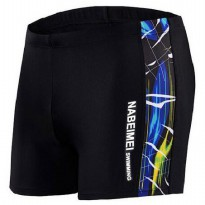 Celana Renang Pria Swimming Trunk Pants Size XL - Black/Blue