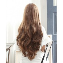 Wig Rambut Palsu Model Wavy 65 cm - Brown