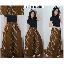 Cj collection Celana kulot batik panjang wanita jumbo long pant Fenyta