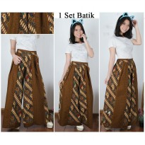 Cj collection Celana kulot batik panjang wanita jumbo long pant Saskia