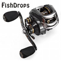 Fishdrops LB200 Reel Pancing 18 Ball Bearing - Tangan Kanan - Gray