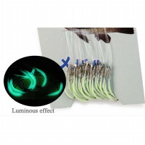 Dagezi Kail Pancing Luminous Glow in The Dark Fishing Hook 30PCS Size 12