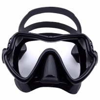 Kacamata Selam Scuba Diving Tempered Glass - Black