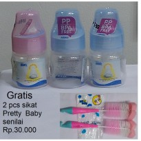 Botol Susu Huki 60 ml 3 pcs - multicolour