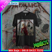 BEST EVER PRODUCTS Kaos Band Original Gildan - Metallica And Justice for All