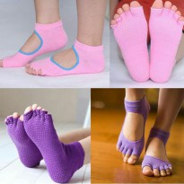Kaus Kaki Yoga - Cotton Women Yoga Socks Non Slip