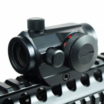 Teropong Senapan Holographic Red Green Dot Scope 20mm Rail Mount - Black
