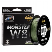 Seaknight Monster W8 Senar Tali Pancing 8 Strands 0.4mm 500 Meter - Line 6 - Green