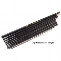 Superhard Fiberglass Fishing Rod 350 cm 6 Section / Tongkat Pancing - Black