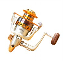 Yumoshi Gulungan Pancing EF6000 Metal Fishing Spinning Reel 12 Ball Bearing - Golden