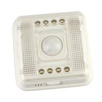 White Lamp PIR Auto Sensor Motion Detector Light 8 LED - L0803SER - Silver
