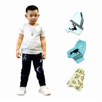 Isi 4 | Size XL & XXL - Kazel Jobel Baby Boy Long Pants Galaxy Edition Celana Panjang Anak