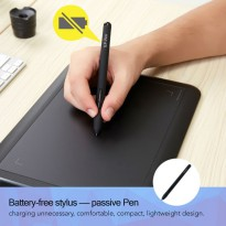 XP-Pen Smart Graphics Drawing Pen Tablet With Passive Pen - G430 - Black / Gambar Stylus