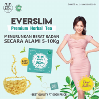 EVER SLIM TEA / EVERSLIM MINUMAN HERBAL TEH PELANGSING DIET KESEHATAN