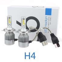 Lampu Mobil LED C6 H4 COB 2PCS - White