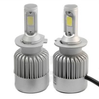 Lampu Mobil LED H7 2 COB 2PCS - White