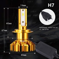 NightTech Lampu Mobil LED H7 CSP 2PCS - Golden