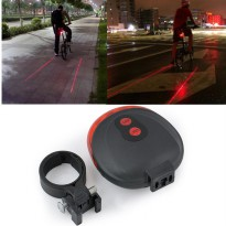 Bicycle Laser Strobe Taillight 5 LED / Lampu LED Sepeda - Red