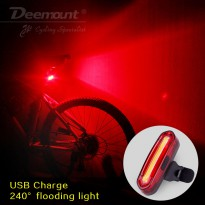 Deemount Lampu Sepeda LED Taillight 120 Lumens - Red/White